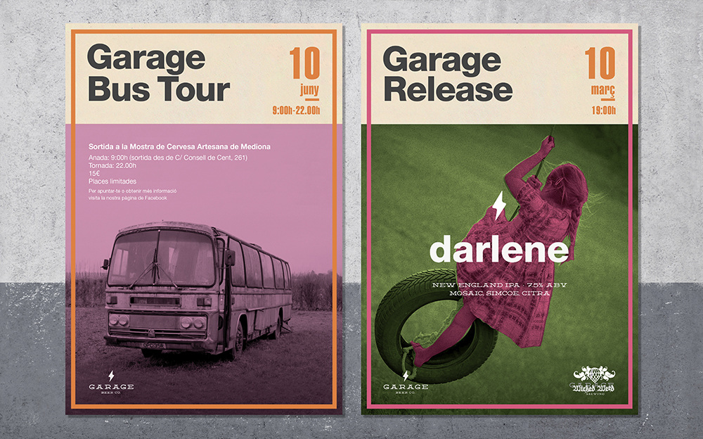 Garage beer co. posters and ads enric adell u2013 graphic design