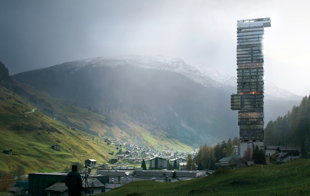 competition for a new hotel in vals  switzerland