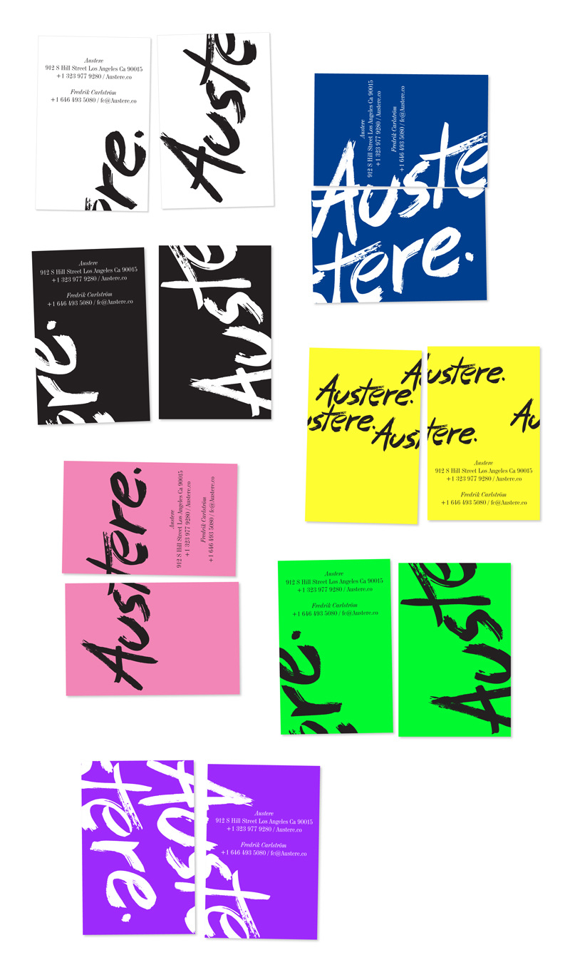 Austere thisisaniceday logo and some identity work for austere spaceshowroom for scandinavian design innovation in downtown la reheart Image collections